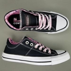 Converse x Hello Kitty CTAS Ox Sneakers Black Pink